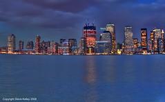 colours (mudpig) Tags: nyc newyorkcity sunset ny newyork skyline geotagged nikon view manhattan hudsonriver hdr worldfinancialcenter lowermanhattan skyscrape coolpix8700 mudpig stevekelley
