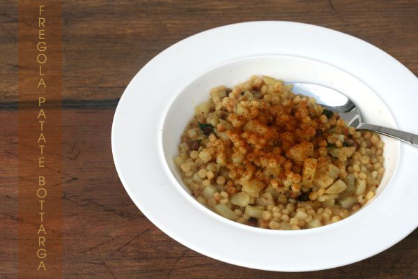 Fregola patate e bottarga