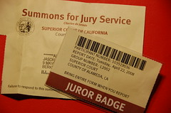 Jury duty - first time ever called