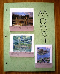 Monet notebooking page front