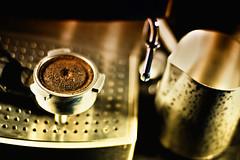 Coffee can wait (kktp_) Tags: coffee thailand nikon dof bokeh pitcher coffeemachine espressomachine sb800 50mmf14d d80 strobist nikoncls ehbd