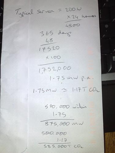 Back of envelope calculations