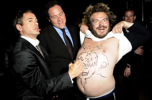 james fravau, jack black y robert downey jr