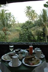 Ontbijt op ons terras