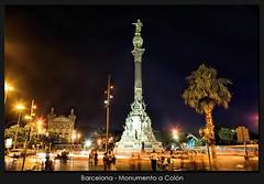 Barcelona - Monumento a Coln (Santcer) Tags: barcelona espaa canon noche spain monumento bcn nocturna canon5d catalunya estatua catalua barna colombus canonef2870mmf28lusm santcer