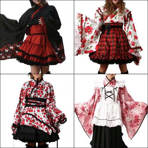 Kimono Gothic Lolita by saladfreak.