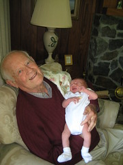 My Grandfather meeting his great grandson, Zander, for the first time. Unforgettable!