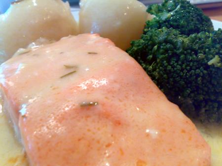 Salmon & Chivas Sauce