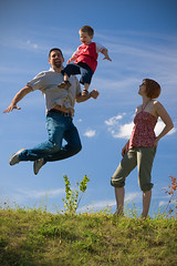 Family On Prozac (Prozac74) Tags: sky sun playground interestingness jump explore getty midair vignette gettyimages stopmotion mywife canonef50mmf14usm polarizationfilter canoneos30d prozac74 prozac05 familyonprozac lostmy23yearoldtripodthatday