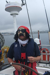 Boarded by a Pirate ! (Ross Drummond) Tags: boat sailing ship yacht bangor pirate sail irishsea gaj sailingtroontoliverpool clydechallenger