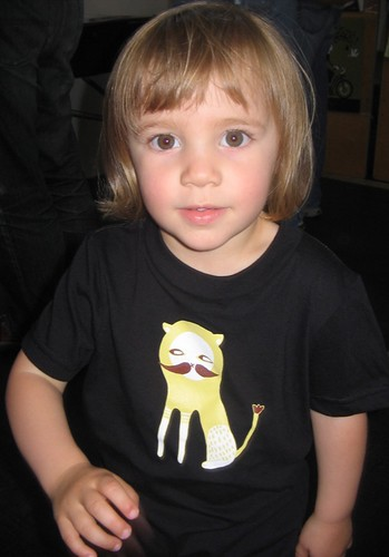 niece lily in my tiger kitten tee