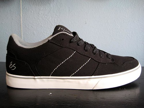 New Es shoes. justineldridge. ES Justin Eldridge (black/white/canvas)