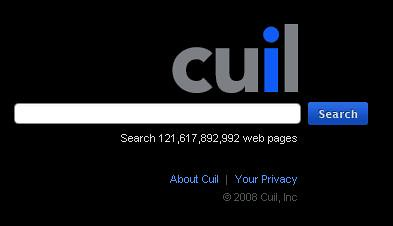 The Cuil home page