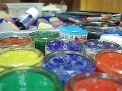 A Riot of colours (lone_observer) Tags: colour riot colours brushes paints riotofcolours bottledpaint