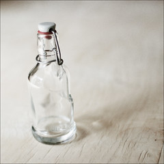 the bottle (Ando : @_AndoPerez) Tags: wood blue food white kitchen glass table bottle natural interior thirsty notpolaroid notsx70 justaddblue not600 notanalog