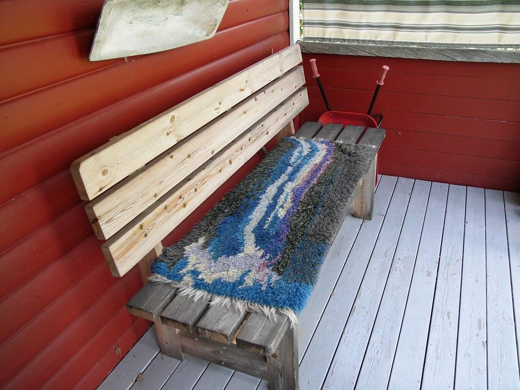 Waterfall Rug Hook at Nils' Cabin