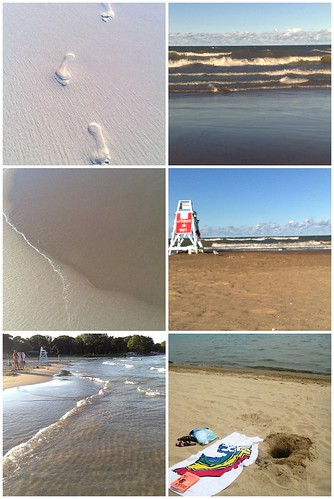 Collage of beach photos