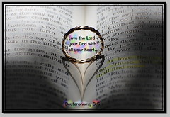 Love the Lord your God with all your Heart (honey 77) Tags: shadow love hope heart god faith jesus lord ring christian bible inspirational spiritual scriptures bibleverse goldring heartshadow nikond40 deuteronomy65