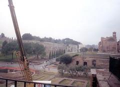 View from a window in the Colosseum (c_nilsen) Tags: italy rome roma film ruins italia colosseum lazio filmphoto