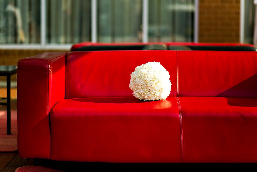 The red couch!