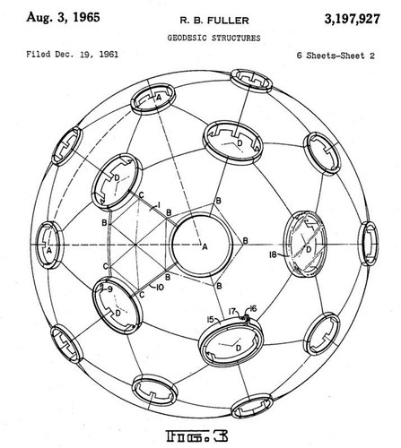 Patent drawing for Geodesic Dome 2 / BLDGBLOG