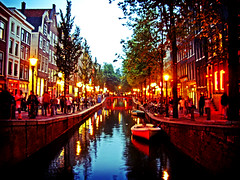Amsterdam (mariocutroneo) Tags: trip travel summer vacation holiday water amsterdam night august agosto 2008 viaggi notte vacanze