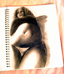 untitled (missdesigndiva) Tags: sketch drawing fat bbw curvy belly charcoal figuredrawing chubby plump curvaceous voluptuous zaftig womanly rubenesque