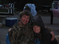chris and i camping (flash cards of my life) Tags: oregon crescentlake