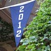 Class of 2012 Banner Hangs from Alumni Hall