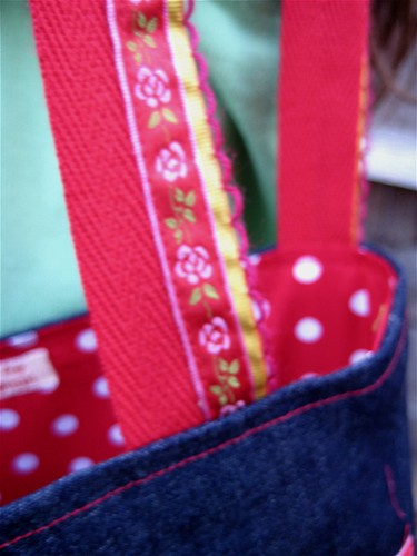 Mia P's bag strap detail