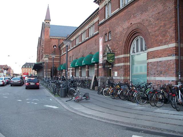 Copenhagen Bikes at Train Station