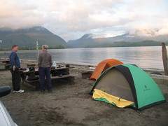 Gerry and Paul at Toquart Bay Campground Photo