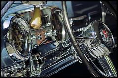 Chromed! (Eric Flexyourhead) Tags: canada classic car vancouver shiny bc britishcolumbia interior chrome hudson dashboard instruments gastown 2008 steeringwheel gauges zd olympuse500 40150mm steamworksconcoursdelégance