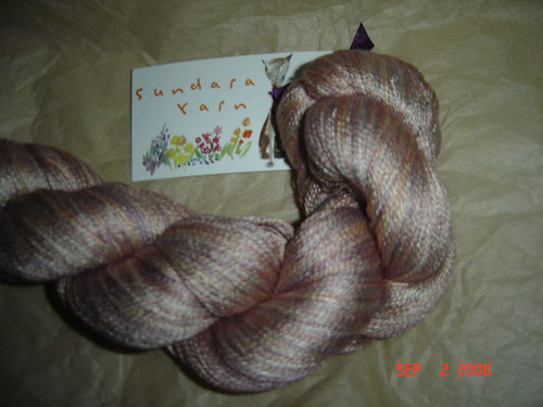 "Sundara Seasons Yarn Club ""Honey Hibiscus"" Silk Lace 1000 yarns"