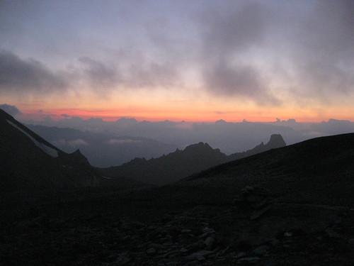 Cabane des Becs de Bosson - sunset