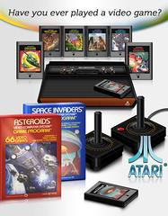 Concept ad for a retro Atari 2600 VCS (Crations du Net - On duty) Tags: net photoshop computer design icon atari retro system webdesign videogame eighties psd 1980 2600 cartridge creations vcs psdtuts