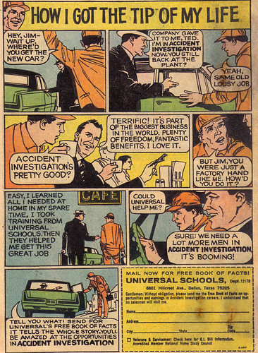 Vintage Ad #607: How I Got the Tip of My Life (Accident Investigations)
