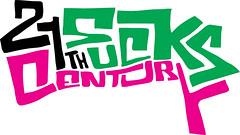 21th-century-sucks typo (lgnore) Tags: pink green illustration century design 21 grafik sucks th ignore supra