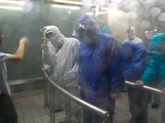 本所防災館:暴風雨体験