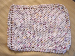 Easy Knitting For Beginners: Free Easy Knit Dishcloth Pattern