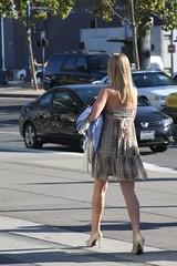 Hot on the Embarcadero (www.bluewaikiki.com) Tags: california girl san francisco downtown summerdress bwsanfrancisco