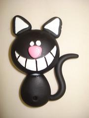 Gatinho sorridente (Alane  maria julia biscuit) Tags: cute cores handmade artesanato artesanal biscuit fofo cor colorido porcelana porcelanafria feitoamao