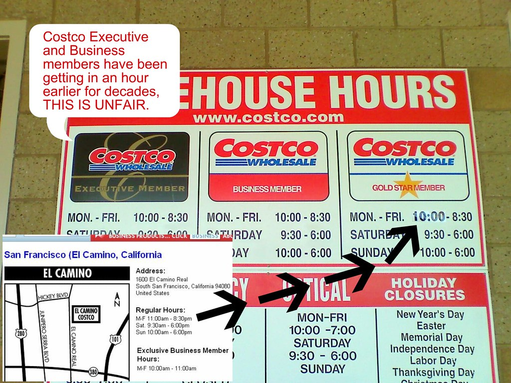costco executive business members no more early shopping hour