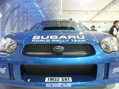 Superoo (z50rc) Tags: auto blue car automobile close dcc front turbo wrc subaru grille impreza wrx sti coupe autosalon carshow intake suby digitalcameraclub melbourneinternationalmotorshow digitalcamerclub