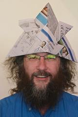 Sakura Matsuri Trip (yewenyi) Tags: portrait male hat japanesegarden origami brian australia nsw  newsouthwales aus 2008 ume hanami sakuramatsuri  cherryblossomfestival   cowra auspctagged centralwest newspaperhat yewenyi cowrajapanesegarden  pc2794 wemadethesehatsourselves