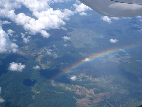 A large rainbow