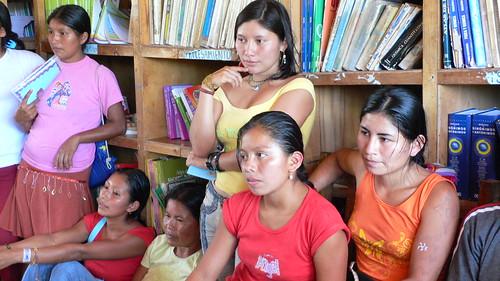Students at the high school at Sarayaku
