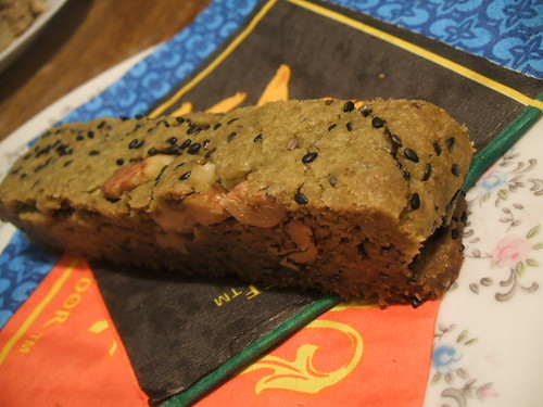 green tea toasted walnut biscotti.