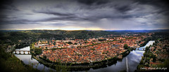 Cahors desprs de la pluja (Seracat) Tags: city panorama france skyline lot frana ciudad francia cahors panoramix ciutat riu panormica occitnia sonya100 occit meandre francs francelandscapes seracat