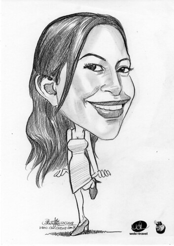 Caricatures Web in Travel 2008 Fiona Rankine